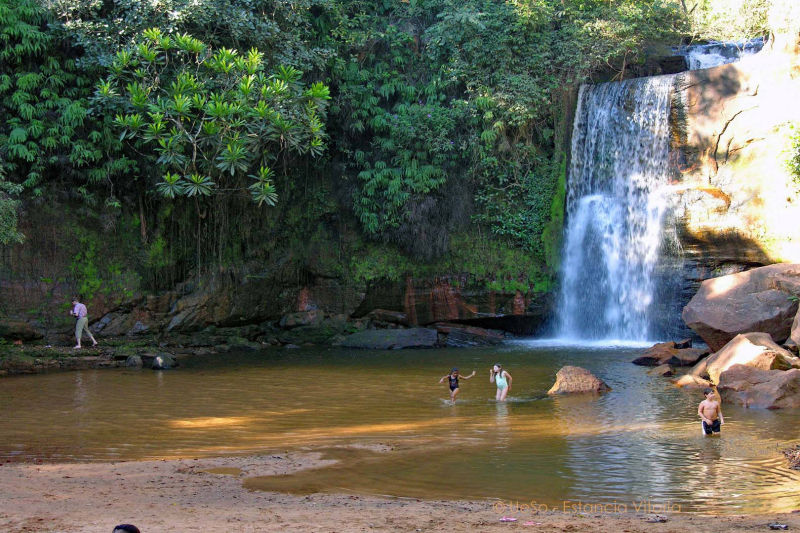 River bathing in the Chapada, Cerrado